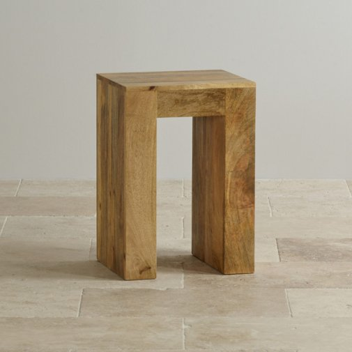 Mantis Light Lamp Table in Natural Solid Mango