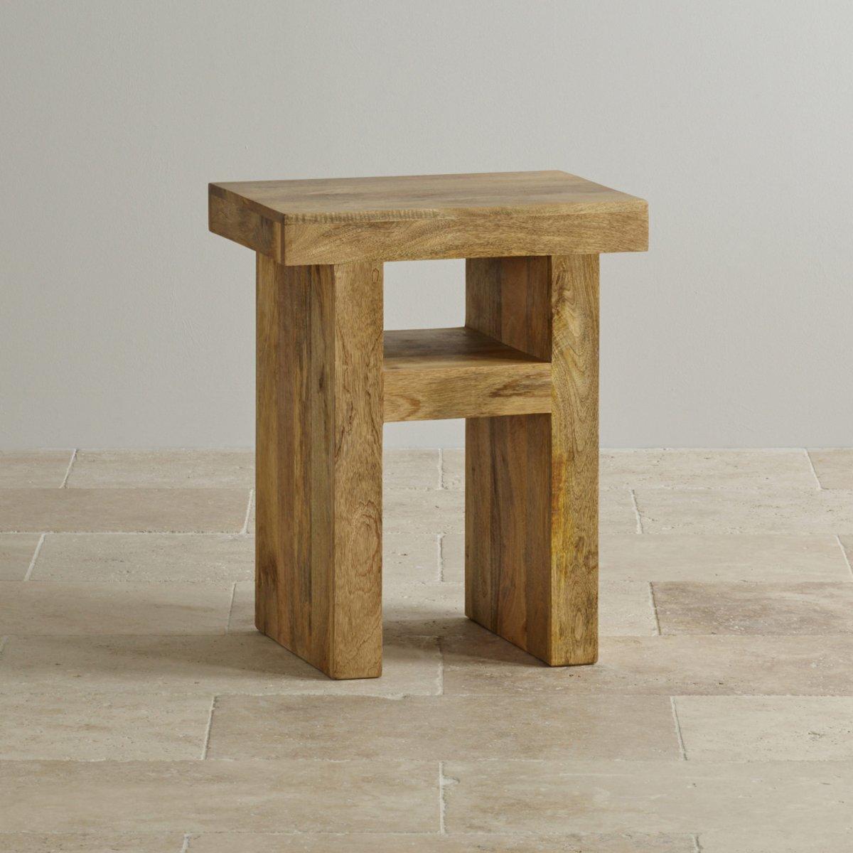 Mantis light lamp table in solid mango oak furniture land for Furniture land