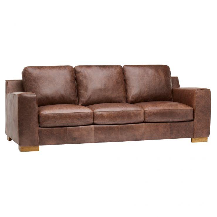 marco 3 seater sofa vintage buffalo leather oak. Black Bedroom Furniture Sets. Home Design Ideas