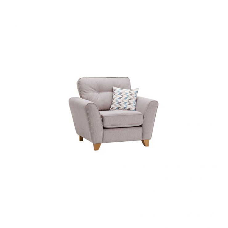 Tremendous Memphis Armchair In Chase Fabric Silver Creativecarmelina Interior Chair Design Creativecarmelinacom