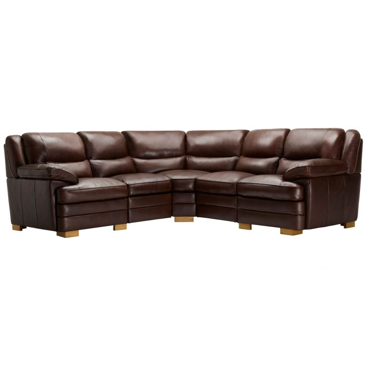 Modena Modular Group 3 In 2 Tone Brown Leather   Image 1 Express Delivery