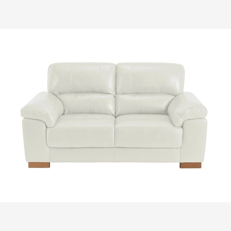 Monza 2 Seater Sofa Taupe Leather
