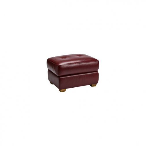 Monza Storage Footstool in Burgundy Leather