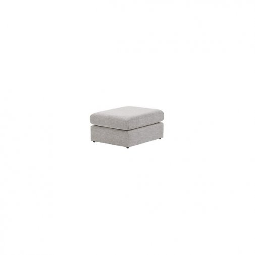 Morgan Footstool in Santos Silver