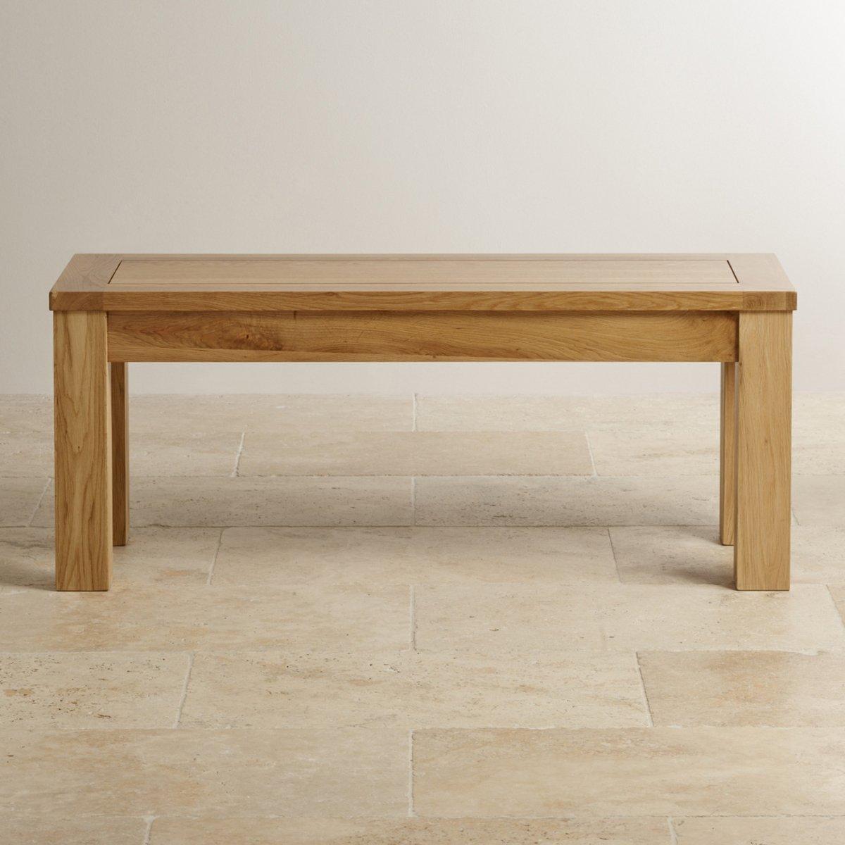 small bench in natural solid oak oak furniture land. Black Bedroom Furniture Sets. Home Design Ideas