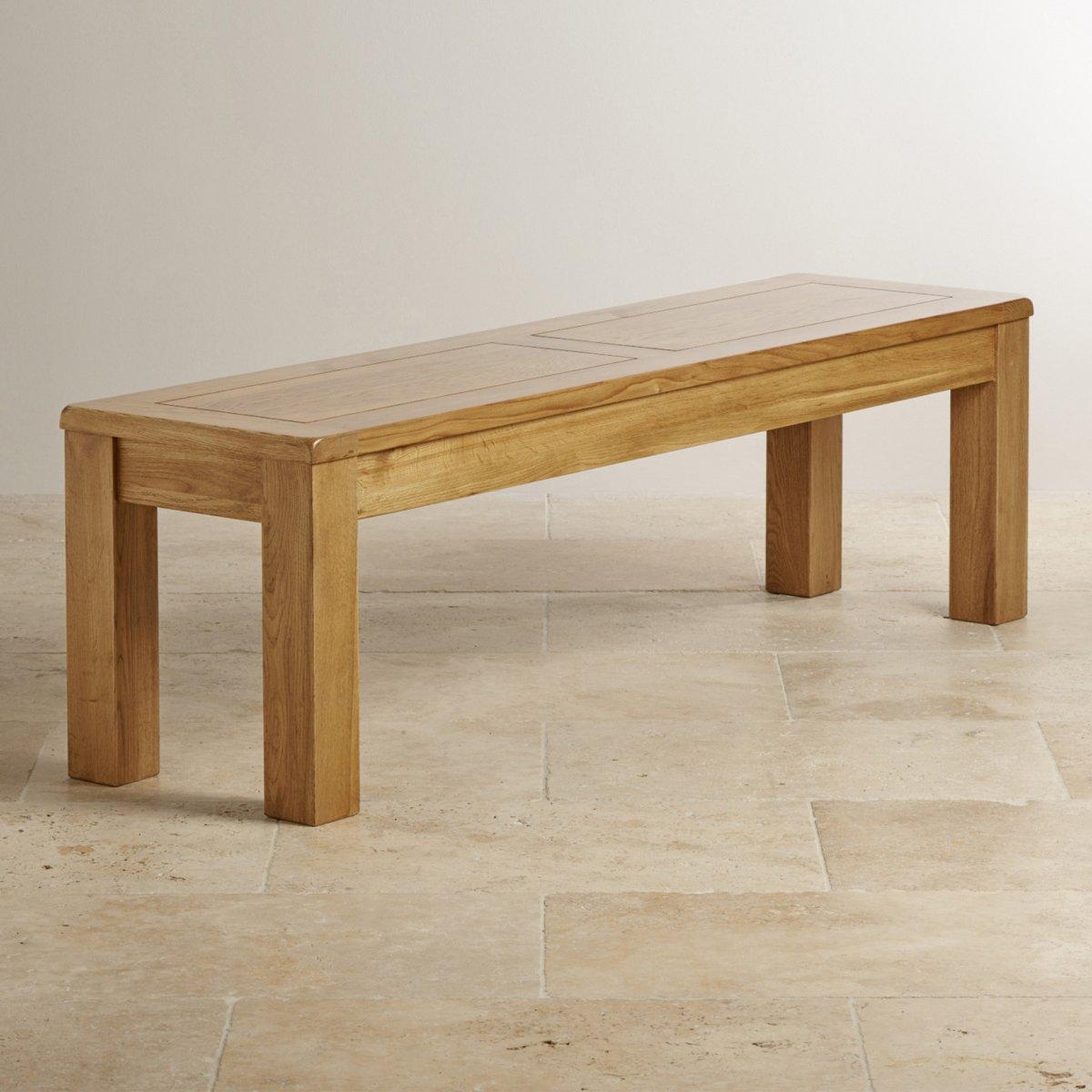 Solid oak large bench furniture land