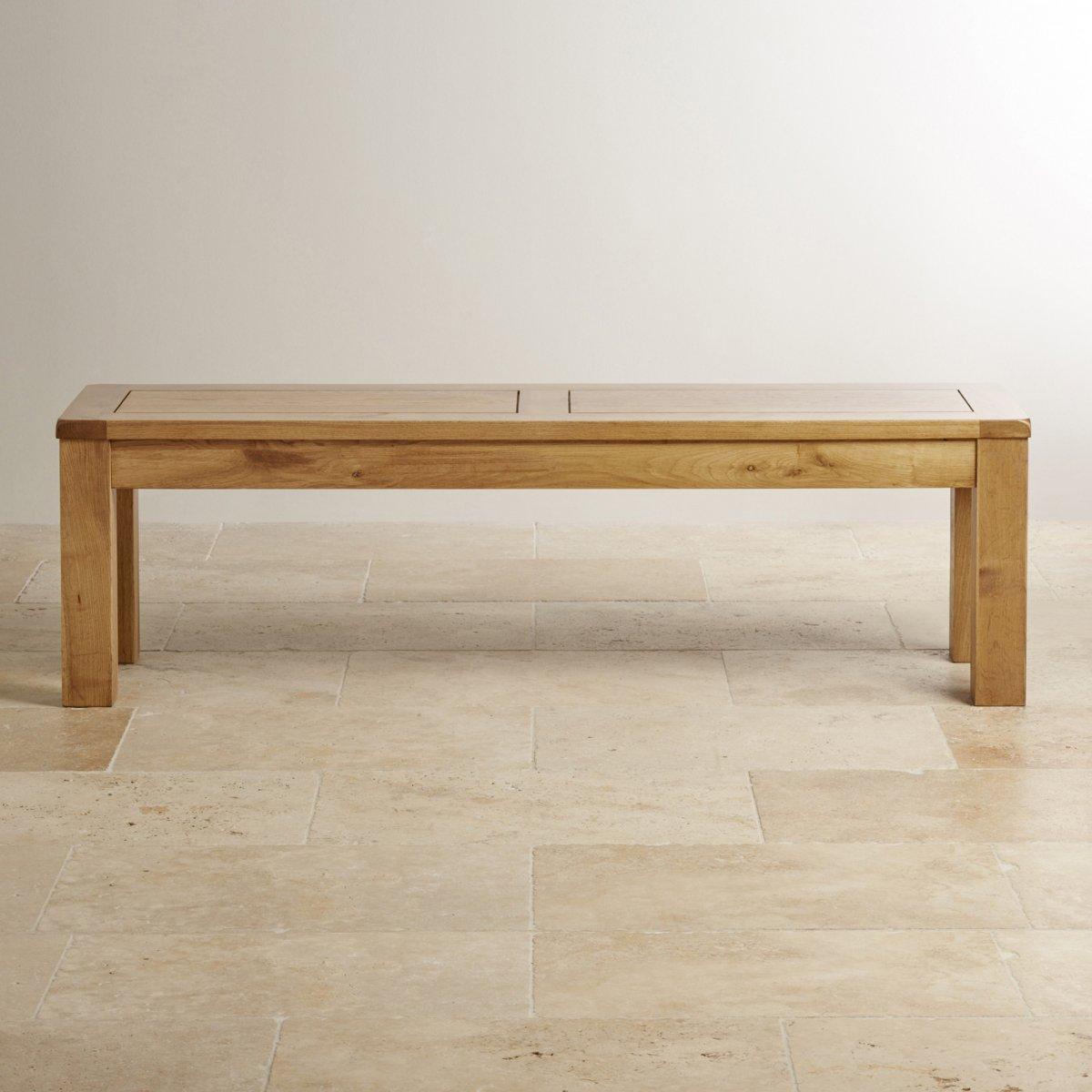 Solid oak large bench oak furniture land for Furniture land