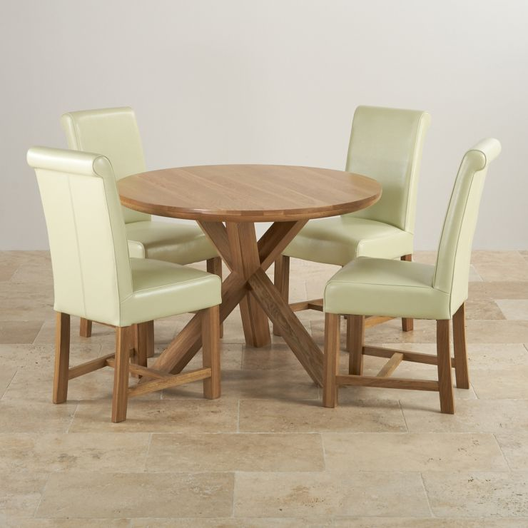 8d2ad6fcd258 Trinity Natural Solid Oak Dining Set - 3ft 7
