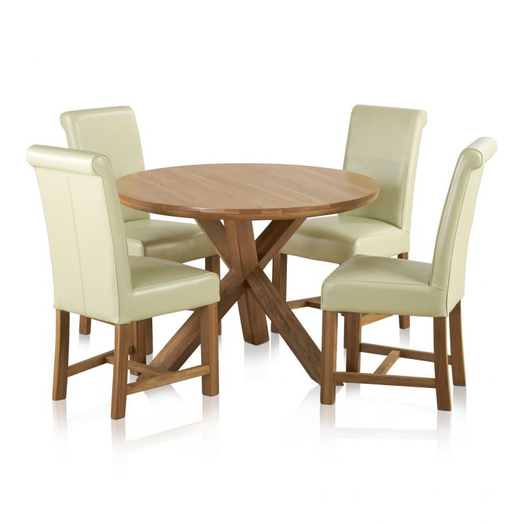 Trinity Natural Solid Oak Dining Set