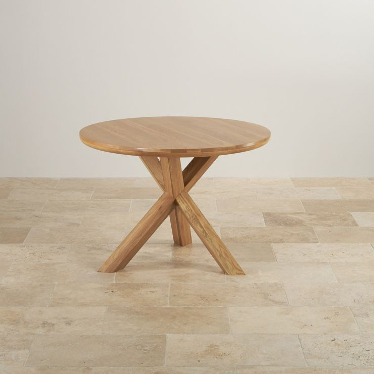 """Natural Oak Dining Set: 3ft 7"""" Table + 4 Wave Back Chairs"""