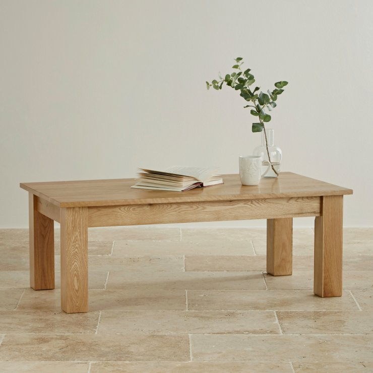 Natural Solid Oak Minimalist Coffee Table