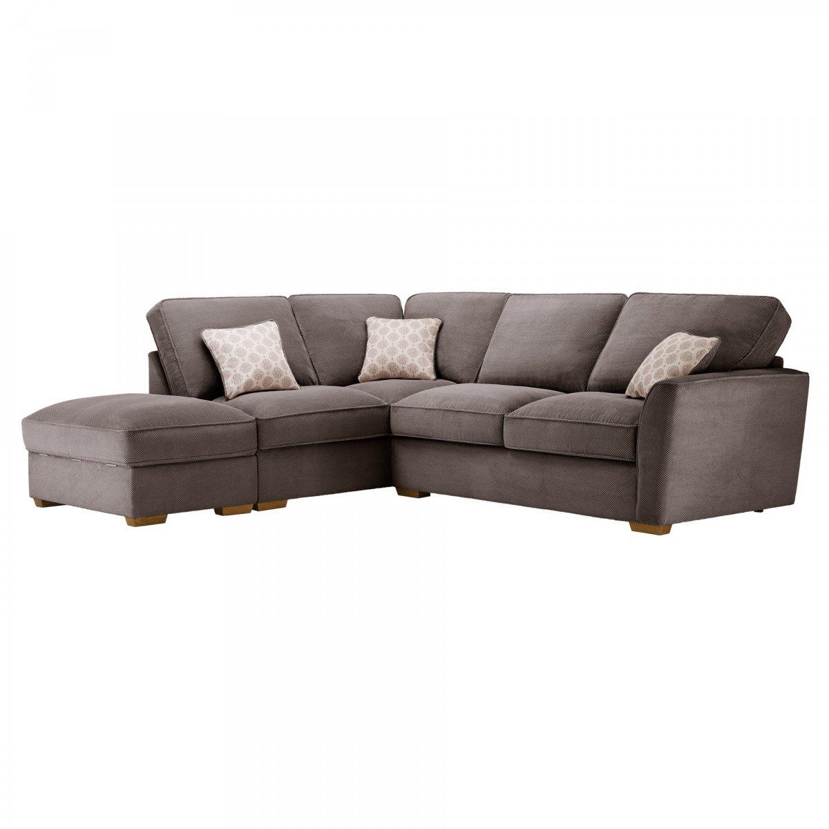 Nebraska Right Hand Corner Sofa With High Back In Aero