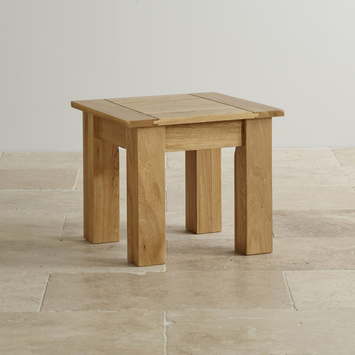 Contemporary Natural Solid Oak Side Table Oak Furniture Land