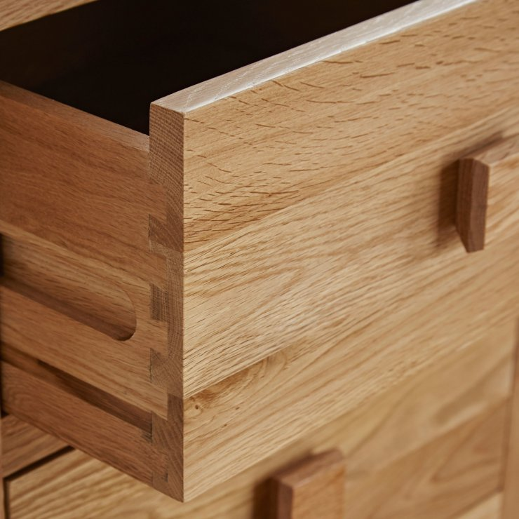 Oakdale Natural Solid Oak 4 Drawer Chest