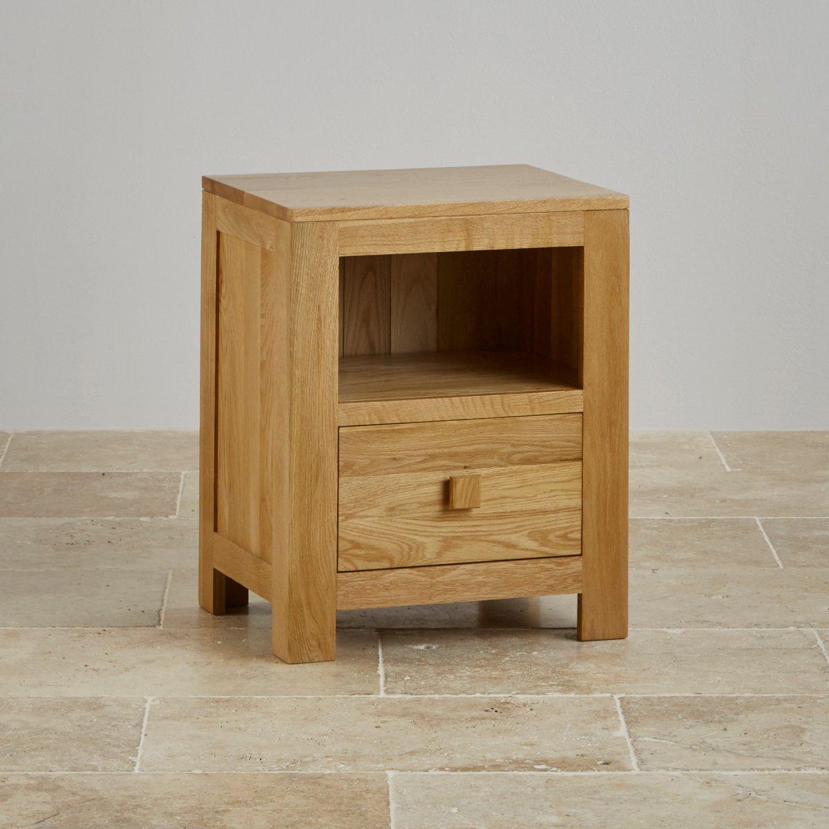 Oakdale Bedside Table in Natural Solid Oak