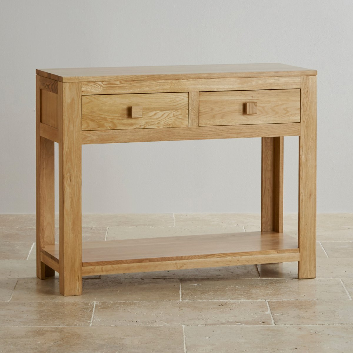 Oakdale Natural Solid Oak Console Table by Oak Furniture Land