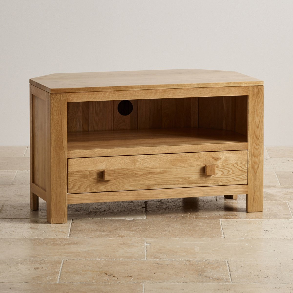 Corner Tv Unit Oakdale Corner Tv Cabinet In Solid Oak Oak Furniture Land