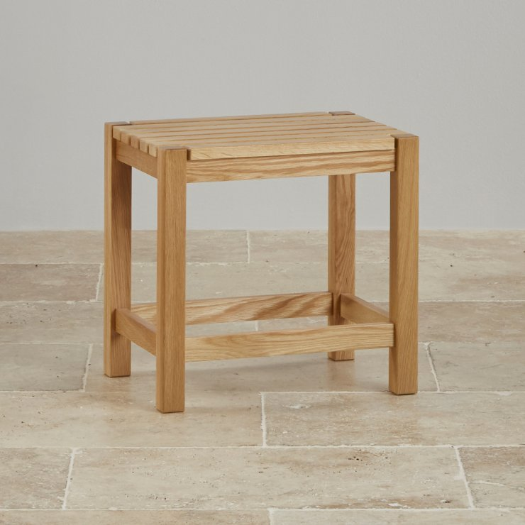 Oakdale Natural Solid Oak Dressing Stool