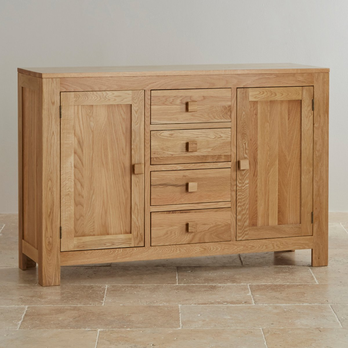 Oakdale natural solid oak large sideboard oak furniture land for Sideboard natur