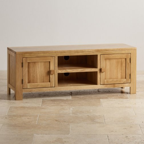 Oakdale Natural Solid Oak Large TV Cabinet