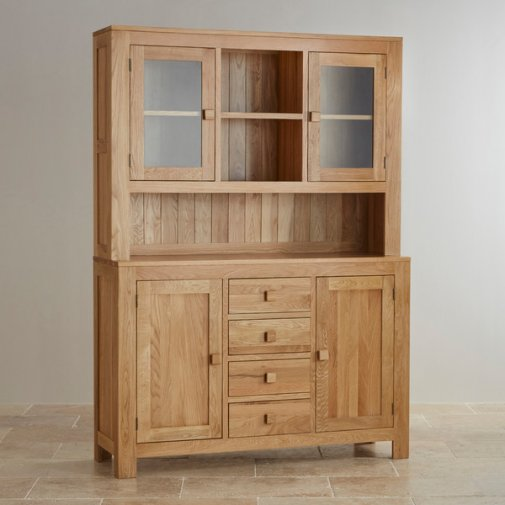 Oakdale Natural Solid Oak Large Dresser