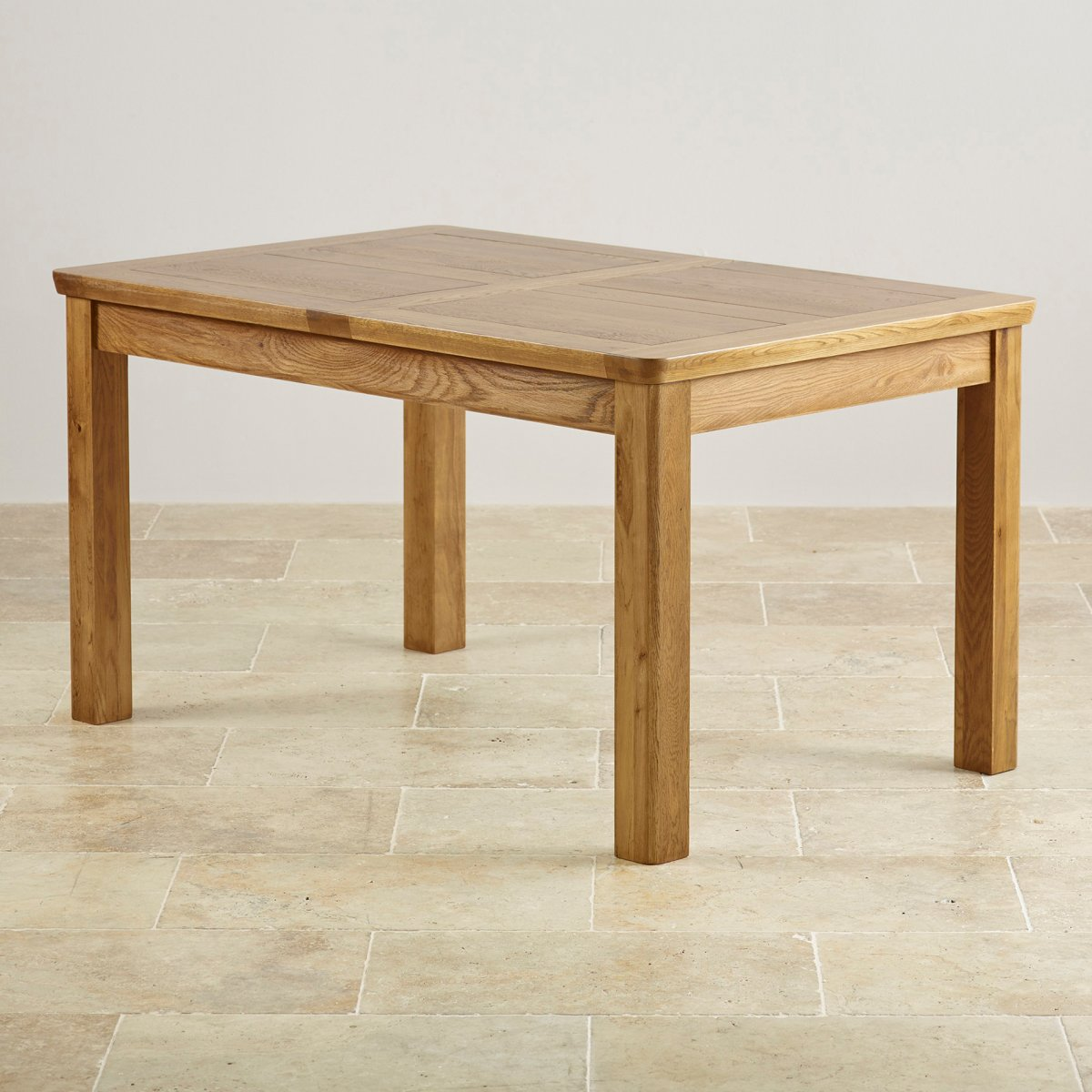 Orrick 4ft 7 x 3ft rustic solid oak extending dining table for Table 6 3 asce 7 05