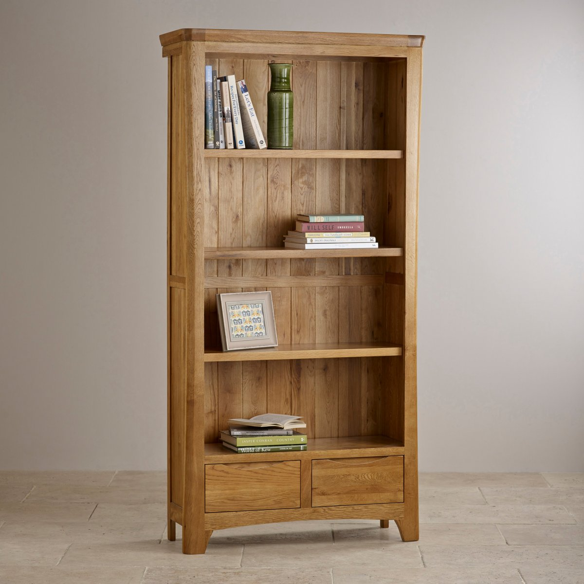 Orrick Tall Bookcase| Solid Oak | Oak Furniture Land