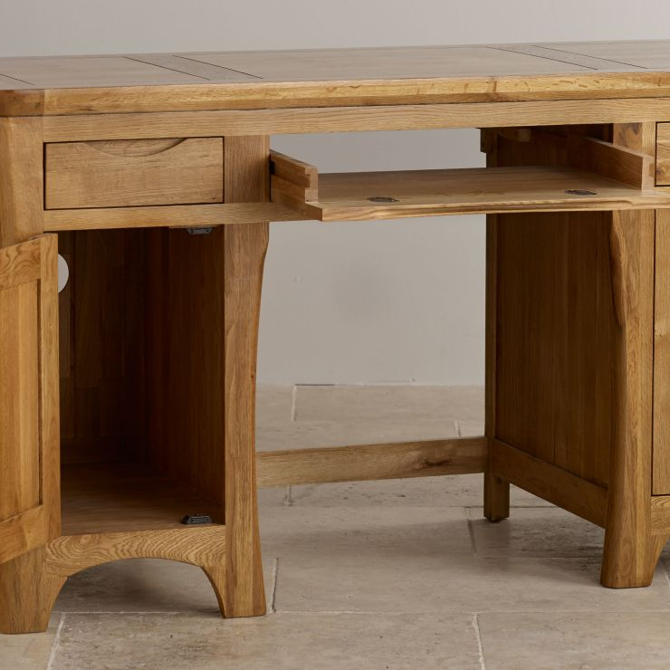 Rustic Desk In Solid Oak Orrick Range Oak Furnitureland