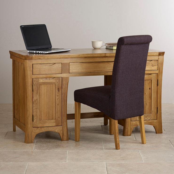 rustic desk in solid oak orrick range oak furnitureland. Black Bedroom Furniture Sets. Home Design Ideas