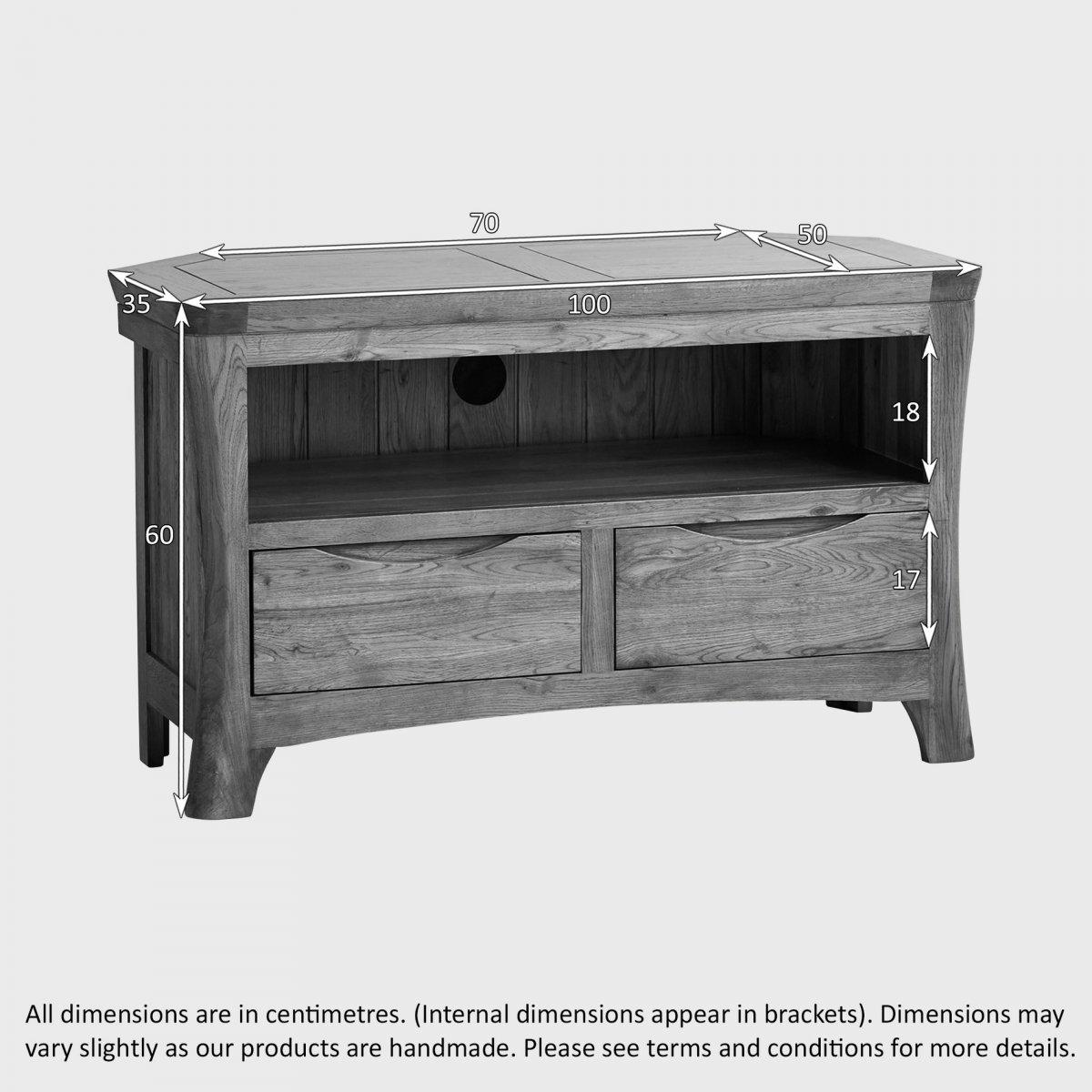 Orrick Corner TV Cabinet in Rustic Oak | Oak Furniture Land