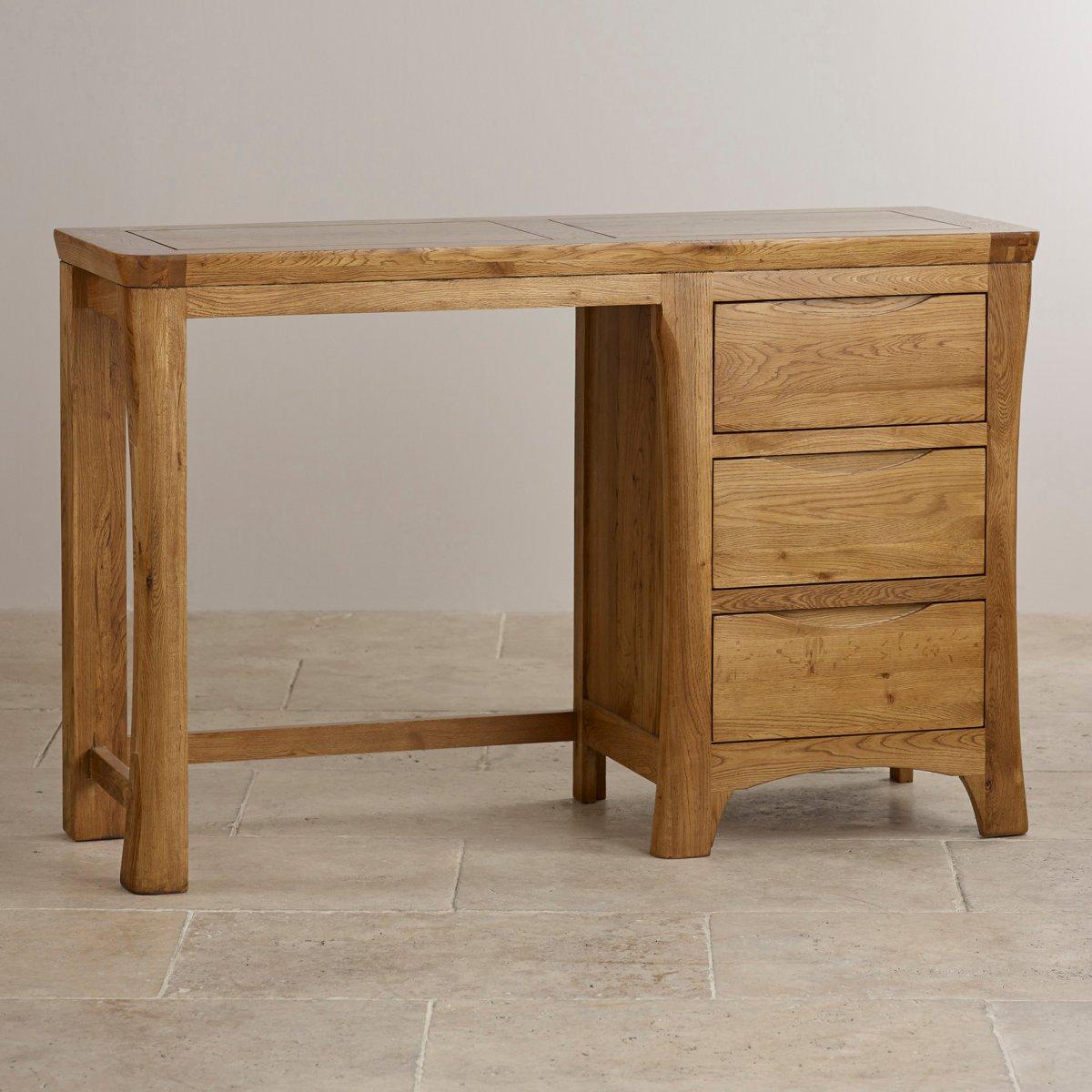 Orrick dressing table in rustic solid oak furniture land