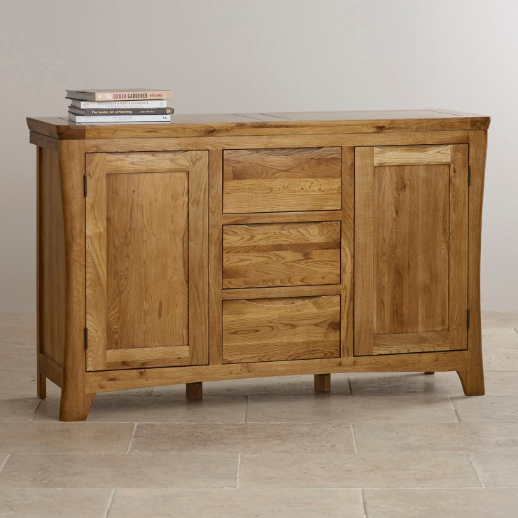 Orrick Rustic Solid Oak Large Sideboard