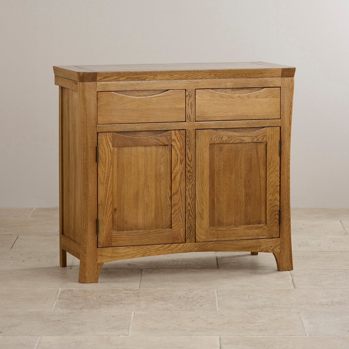 Orrick small sideboard in rustic solid oak oak furniture for Solid oak furniture