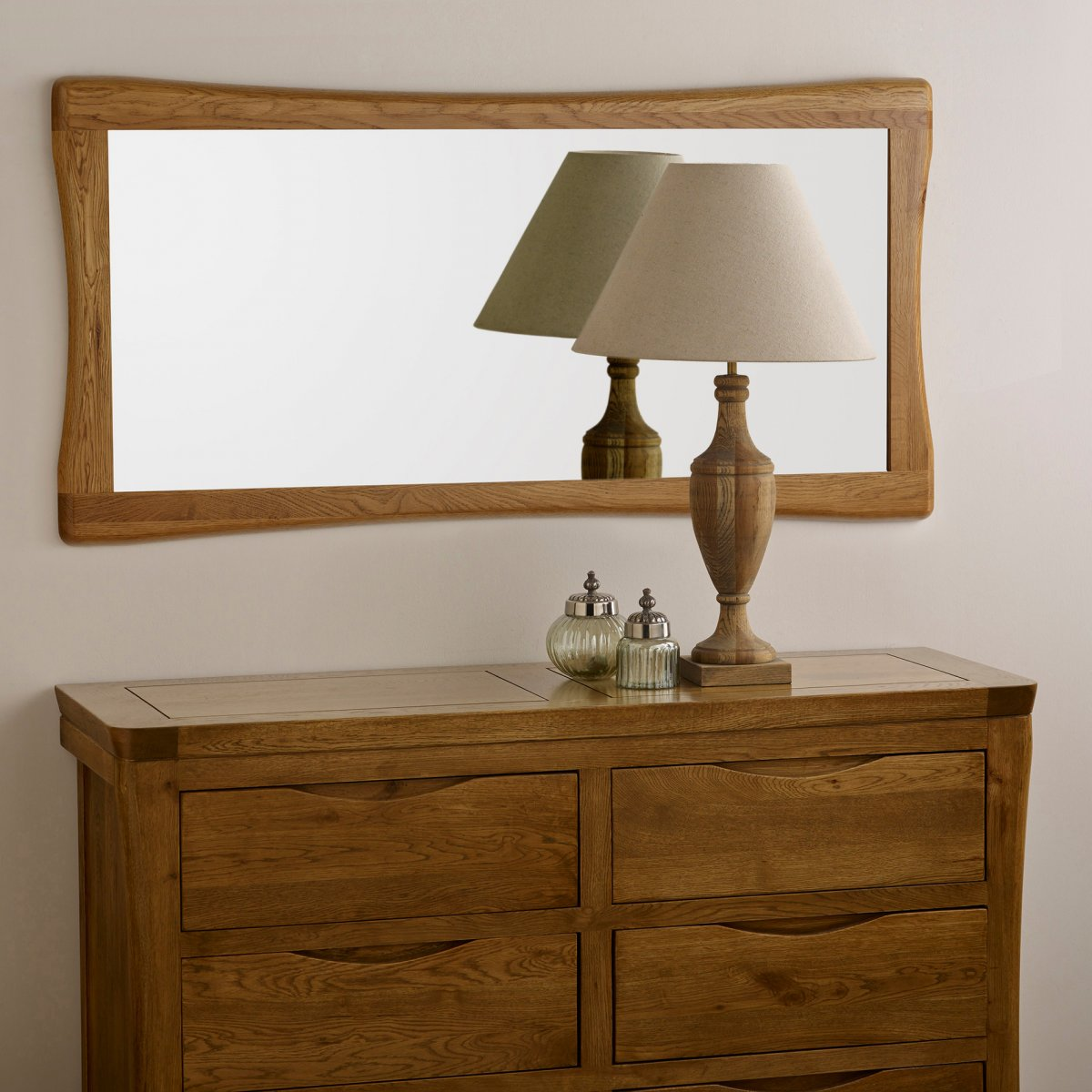 Orrick wall mirror in natural solid oak oak furniture land product information amipublicfo Choice Image
