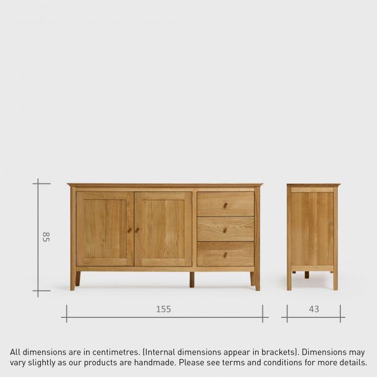 Oslo Large Sideboard I Natural Solid Oak Oak Furniture