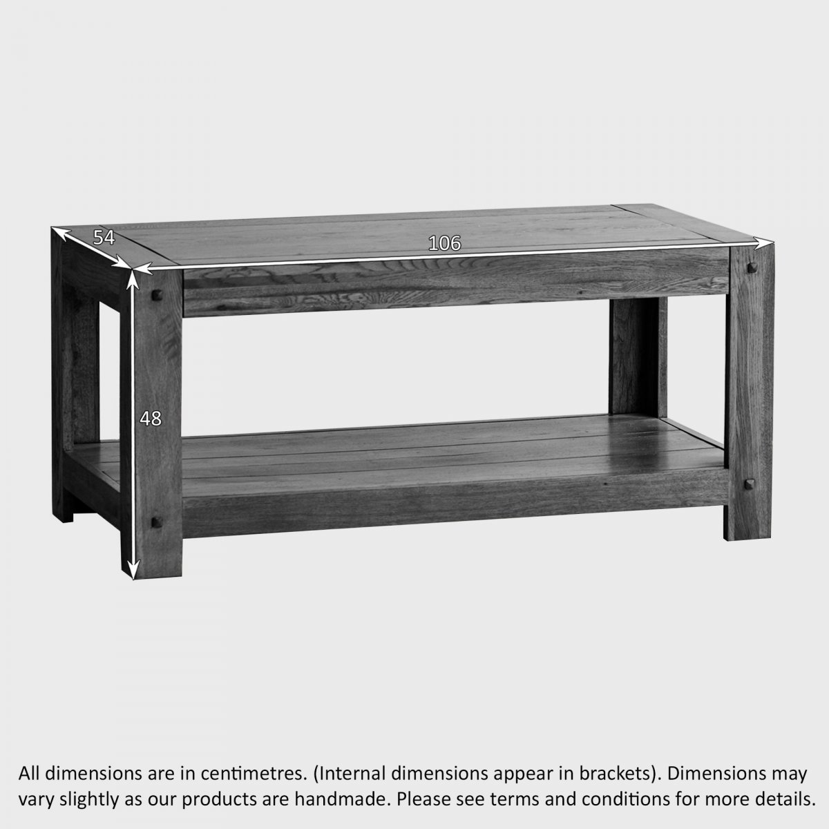 Quercus Coffee Table In Rustic Solid Oak Oak Furniture Land