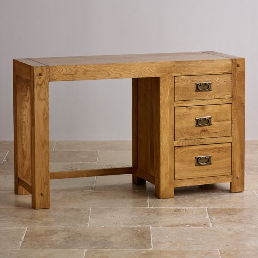 Quercus Rustic Solid Oak Dressing Table