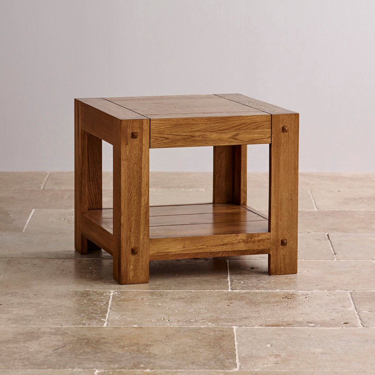 Quercus side table rustic solid oak oak furniture land for Rustic side table