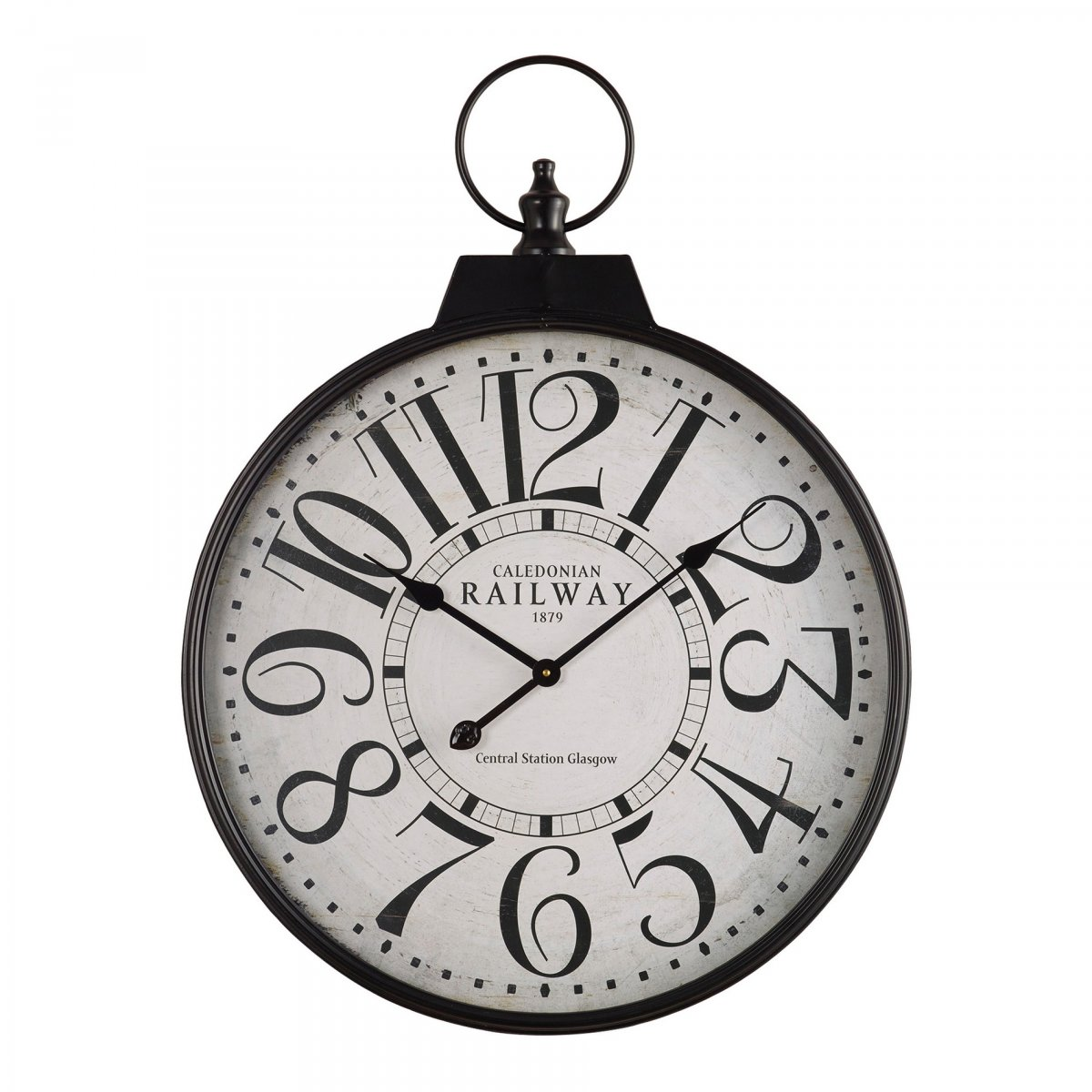 Railway wall clock accessories oak furniture land product information amipublicfo Gallery