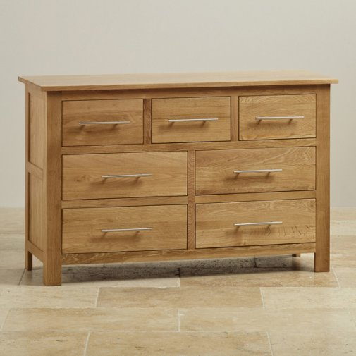 Rivermead Natural Solid Oak 3+4 Drawer Chest