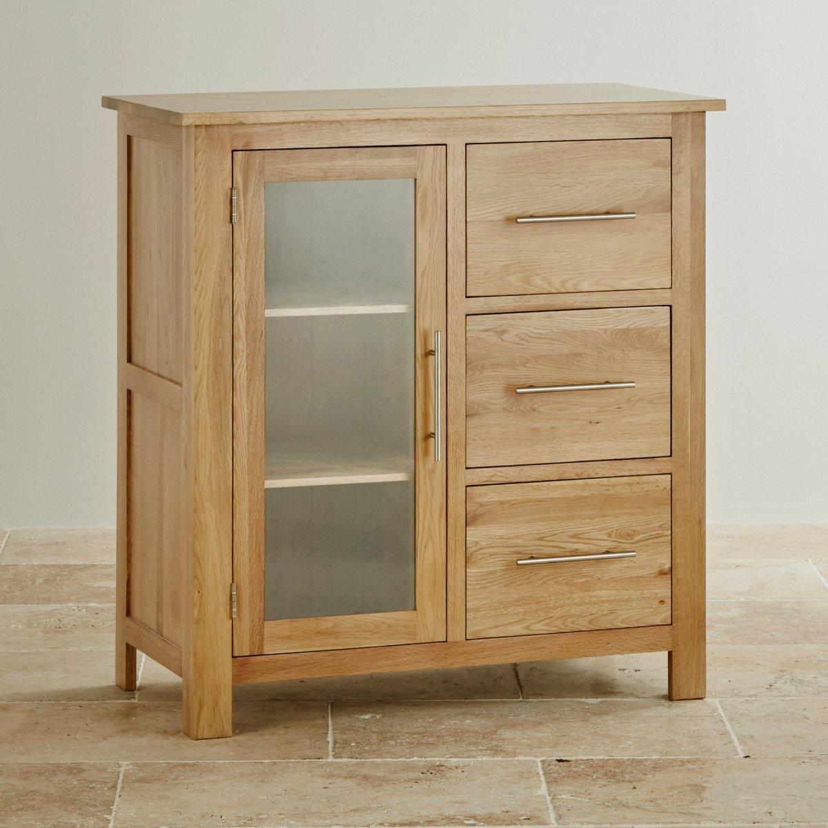 Natural Oak Kitchen Cabinets: Rivermead Glazed Media Cabinet In Solid Oak