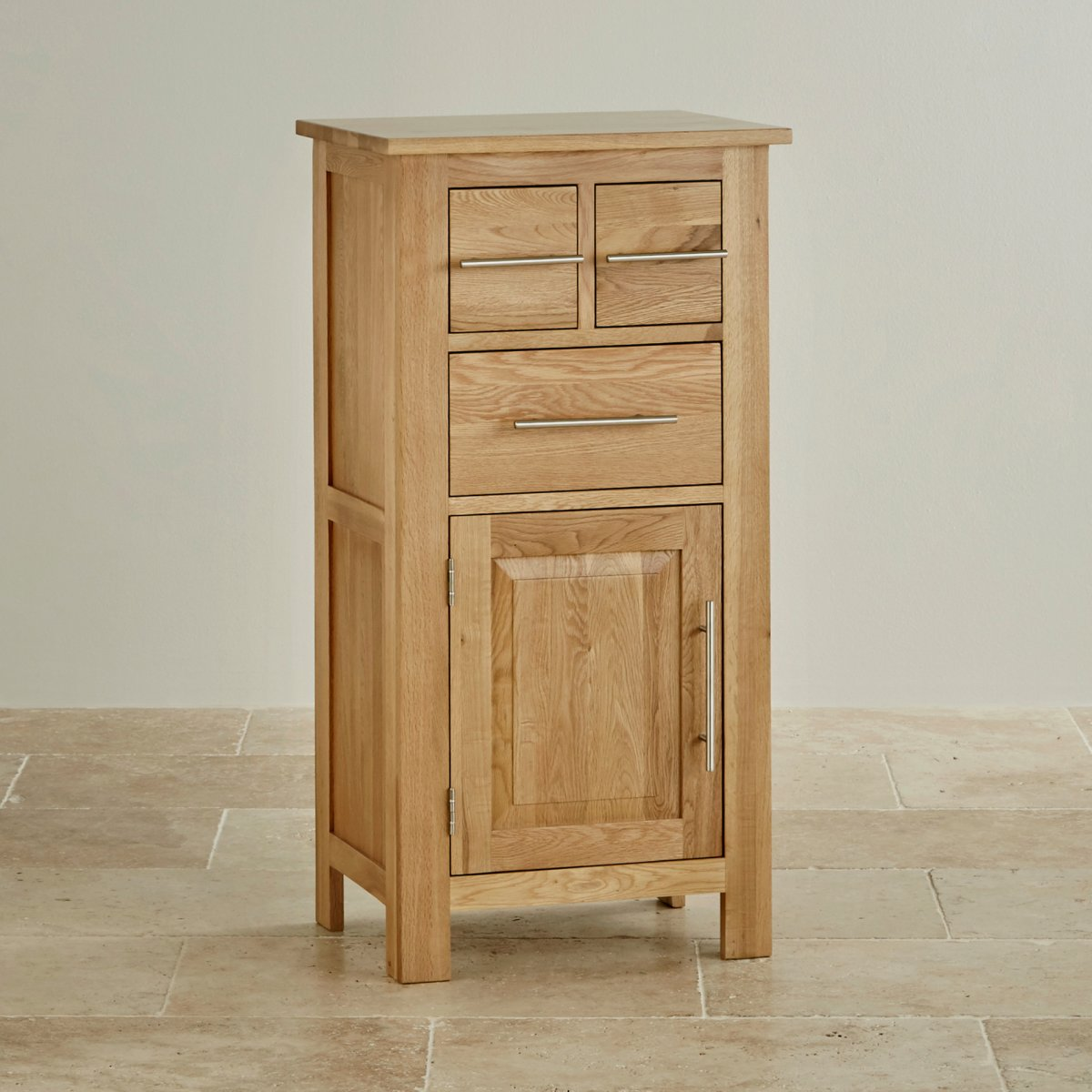 Rivermead natural solid oak storage unit by oak furniture land for Solid oak furniture