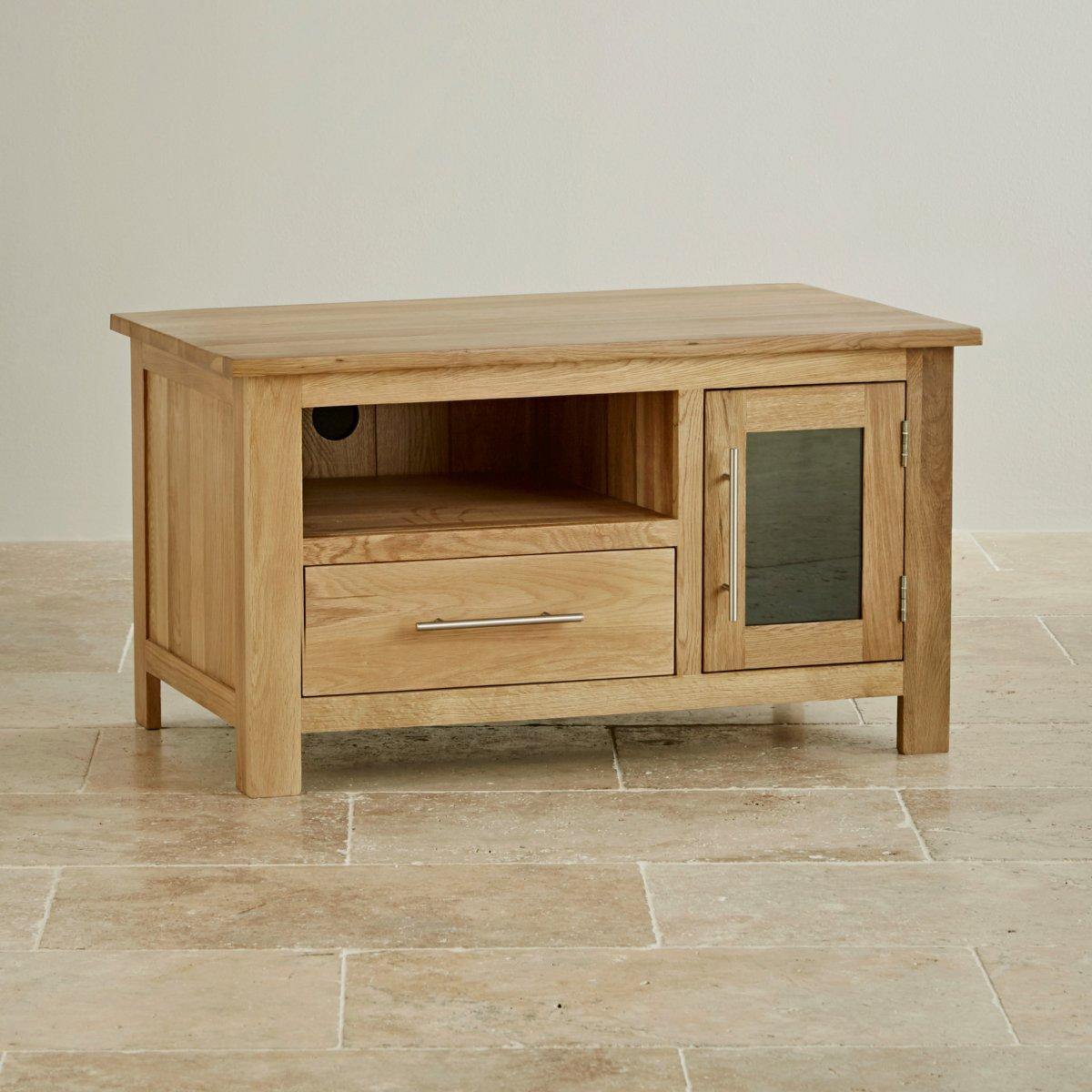 Rivermead Natural Solid Oak TV DVD Cabinet