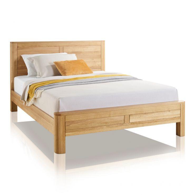 King Size Bed.Romsey Natural Solid Oak 5ft King Size Bed