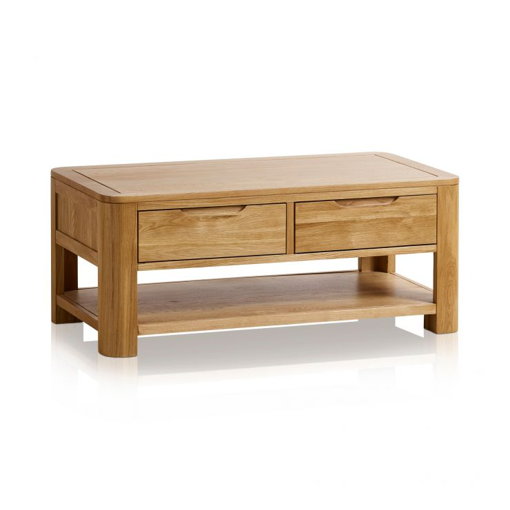 Amazing Romsey Natural Solid Oak Coffee Table Evergreenethics Interior Chair Design Evergreenethicsorg