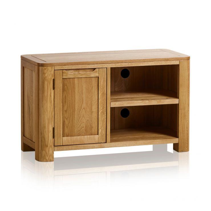 online retailer 7e7e9 8f95e Romsey Natural Solid Oak Small TV Unit
