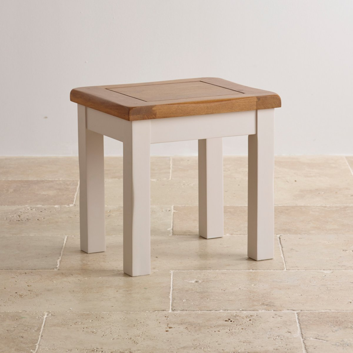 Dressing tables 100 solid hardwood oak furniture land custom delivery kemble rustic solid oak and painted dressing table stool geotapseo Images