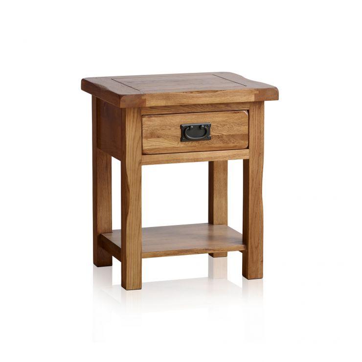Original rustic lamp table in solid oak oak furniture land original rustic solid oak lamp table image 1 express delivery aloadofball Images