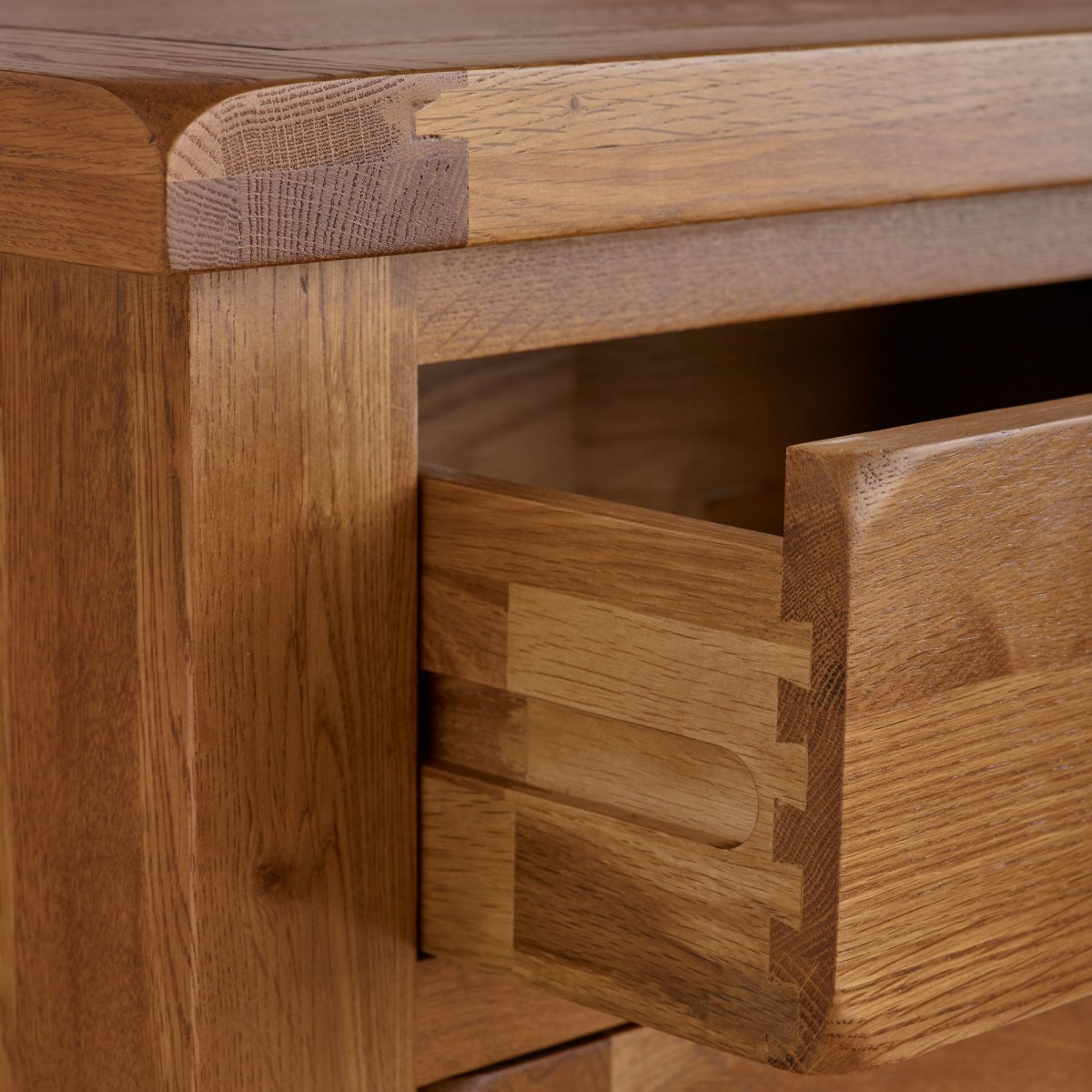 Furnuture: Original Rustic 3+4 Chest Of Drawers In Solid Oak