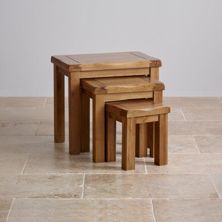 Original Nest of 3 Tables in Rustic Oak Oak Furniture Land : rustic oak nest of 3 tables 55d310445a5bf8ad553930a57ce97669cbce10c10d596 from www.oakfurnitureland.co.uk size 740 x 740 jpeg 67kB